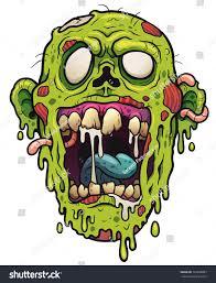 Cartoon Design Vector Illustration Of Cartoon Zombie Head Zombie Drawings