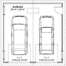 image result for typical garage size 2 car