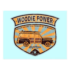 Woodie Wagon Postcard