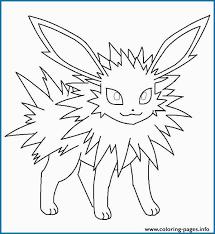 Eeveelutions Coloring Pages Best Jolteon Eevee Pokemon Coloring