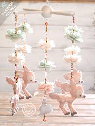 Light Show Mobile Baby Fawn Baby Mobile Woodland 100 Swarovski Crystals Deer