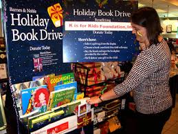 k is for kids barnes le host holiday book drive