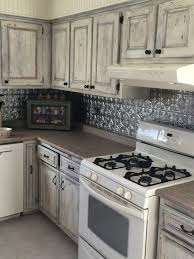 white wash distressed cabinets