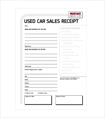 Vehicle Sale Agreement Beautiful Car Receipt Template Doc For Word ...