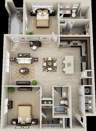 3 Bedroom Open Floor House Plans Creative Design Custom Design