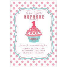 Polka Dot Invitations Pink Polka Dot 1st Birthday Invitations