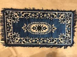 authentic beautiful vintage turkish rug blue black white brand new