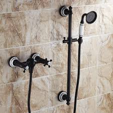 wall mount oil rubbed bronze shower set