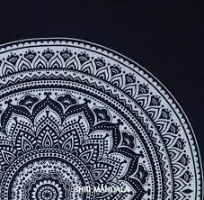 Black and White Hippie Mandala Quilt Cover With Two Pillow Cases ... & Black and White Floral Mandala Quilt Cover ... Adamdwight.com