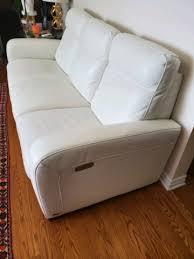 natuzzi genuine leather sofa with 2