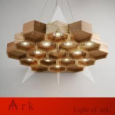 handmade lighting design. Handmade Lighting Fixtures. Ark Light Wooden Honeycomb Modern Creative Wood Led Hanging Pendant Lamp Design