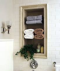 Wall storage for space saving small bathroom design