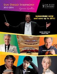 San Diego Symphony Season 2013 14 Brochure By San Diego