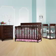 graco cribs 3 piece nursery set stanton convertible crib sarah changing table and 4 drawer dresser in cherry free