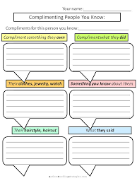 Helping kids with Asperger's to give compliments: Worksheets for ...
