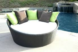 outdoor round table covers with elastic garden furniture circular metal couch bed and chairs modern patio an