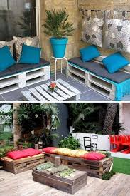 shipping pallet furniture ideas. outdoor shipping pallet furniture ideas white painted bench colorful cushion p