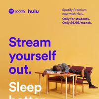 Spotify Hulu Gives A Video 4 Students Break 99 And Music On Plan r5Xrqx
