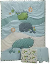 migi little whale crib bedding by bananafish