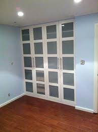 ikea closet doors for bedrooms ikea ers pax wardrobe turned custom reach in closets