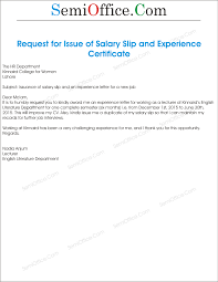 Sample Request Letter To Hr For Salary Certificate