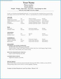Actor Website Templates Free Great Actor Resume Template Word Free