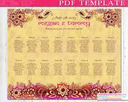 Sample Wedding Seating Chart Template Indian Wedding Seating Chart Template Diy By