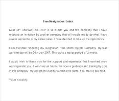 Templates Of Resignation Letter Word Resignation Letter Template Doc