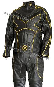 x men 2 wolverine motorcycle leather suit outfit