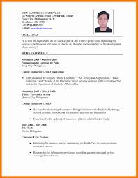 Applicant Resume Sample Filipino Fresh 8 Infinite Screenshoot Of