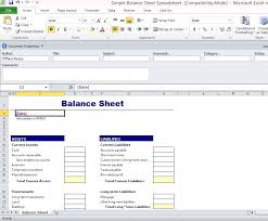 Simple Balance Sheet Excel Simple Balance Sheet Spreadsheet For Excel 1 Fppt
