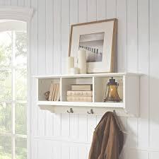 Floating Entryway Shelf Coat Rack Fabulous Prepac Floating Entryway Shelf Coat Rack White 36