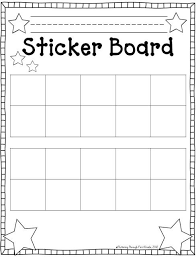 Behavior Reward Chart Printable Stick To Good Behavior Sticker Board Classroom Management
