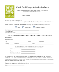 Free Credit Card Authorization Template