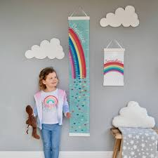 Canvas Height Chart Personalised Rainbow Canvas Height Chart