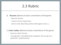 2 3 Rubric Technical And Professional Writing 2 3 Rubric 1 Resume