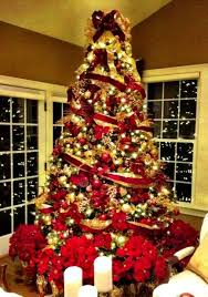 christmas trees decorated in red and gold. Delighful And Red White And Black Christmas Tree Decorating Ideas Debbiedoos  Trees Decorated In Gold O
