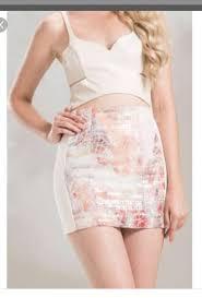 Thea By Thara Little Mirrors Bandage Skirt Womens Fashion