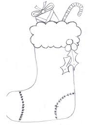 Small Picture Christmas Stocking Coloring Sheet