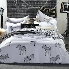 zebra bed set whole black and white bedding king queen double full twin size duvet cover zebra bed set