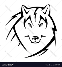 wolf face drawing tribal. Wonderful Wolf Tribal Wolf Vector Image Inside Wolf Face Drawing T