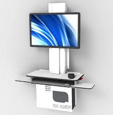 wall mounted adjustable desk. medical computer workstation / height-adjustable wall-mounted cwm rdp group (uk wall mounted adjustable desk e