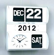 retro calendar wall clock vintage flip modern auto desk fli retro calendar wall clock flip