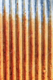 a rusty corrugated iron metal fence close up zinc wall stock image