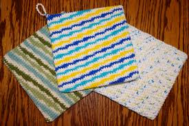 Double Thick Knit Potholder Pattern