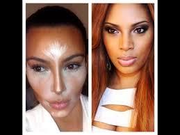kim kardashian inspired makeup highlight contouring