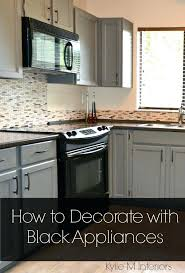ideas for how to decorate a kitchen with black appliances including and tips gray cabinets countertops