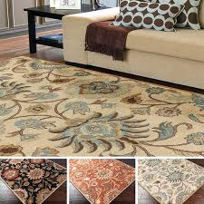 8 10 area rugs hand tufted traditional fl wool rug x in