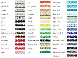 Fire Color Chart Fire Polished Czech Glass Color Chart