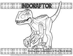 Spersonalizowane jurassic world party do druku zaproszenia. Coloring Page Indoraptor True North Bricks Dinosaur Coloring Pages Lego Coloring Pages Coloring Pages